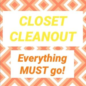 CLOSET CLEANOUT - LOW PRICES